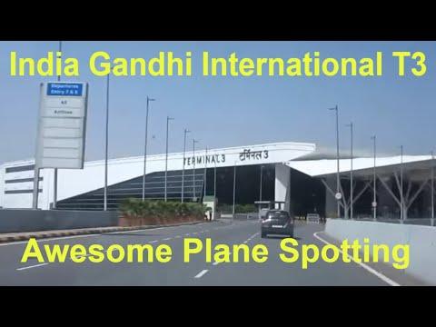 INDIA Indira Gandhi International Airport Terminal 3 Takeoffs Landings Taxiing