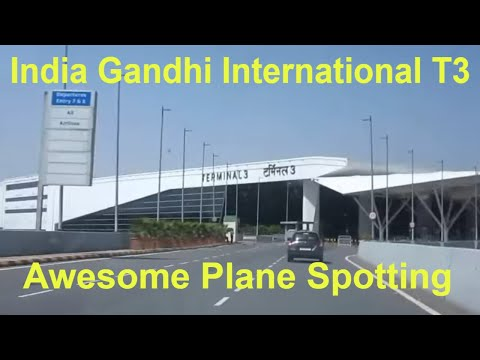 INDIA Indira Gandhi International Airport Terminal 3 Takeoffs Landings Taxiing