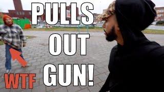 MAN THREATENS TO SHOOT ME!!!