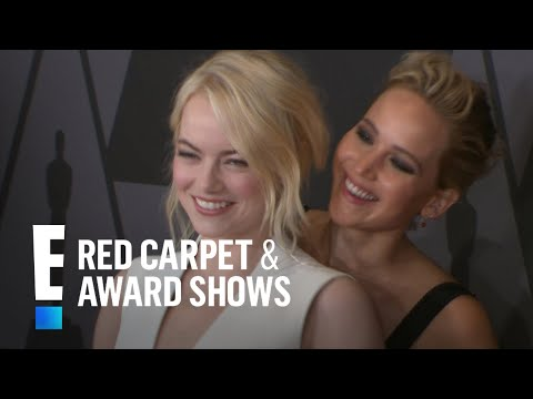 Jennifer Lawrence & Emma Stone Get Silly on Red Carpet | E! Live from the Red Carpet
