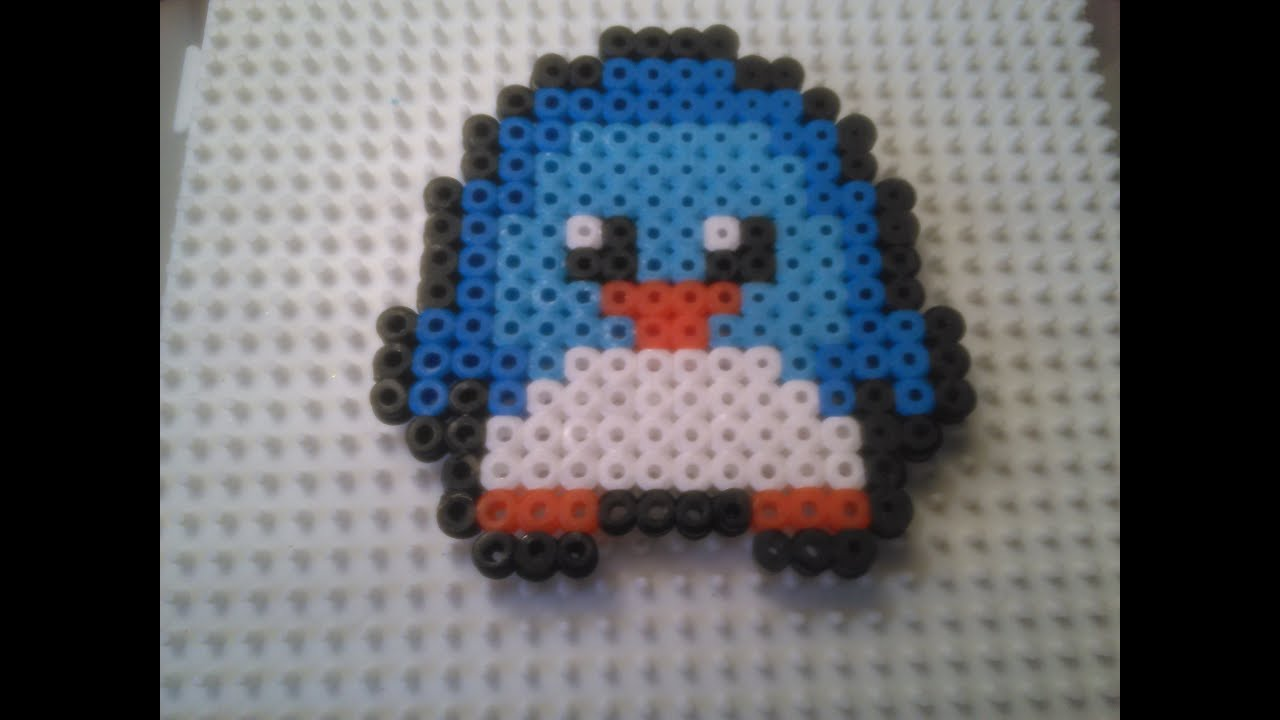 Pingüino De Estilo Kawaii De Hama Beads Youtube