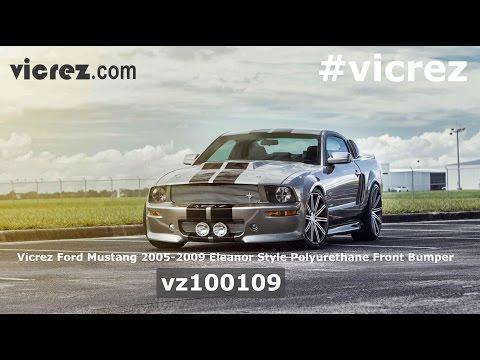 Vicrez Ford Mustang 2005-2009 Eleanor 9 Piece Polyurethane Full Body Kit - vz100108