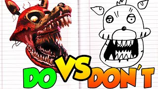 DOs & DON'Ts Drawing Five Nights At Freddy's Twisted Foxy In 1 Minute CHALLENGE!