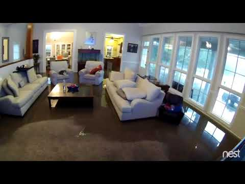 Time-lapse of home flooding, Lafayette, LA. 2016 - raw footage