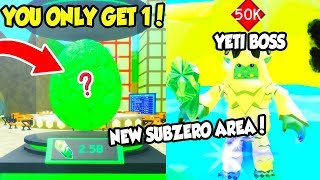NEW SUBZERO AREA AND INSANE 25M EGG IN SLAYING SIMULATOR UPDATE!! (Roblox) thumbnail