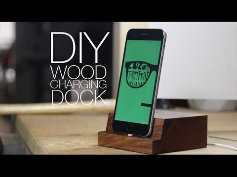 Make Wooden Iphone Charging Dock Diy Project Youtube