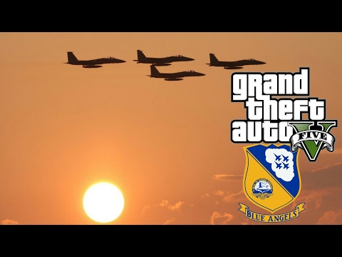 GTA 5 - Blue Angels AIR SHOW!!! (Short film)