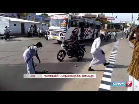 Viral Video: Drunken Lady Beats Her Husband In Karur | Tamil Nadu | News7 Tamil
