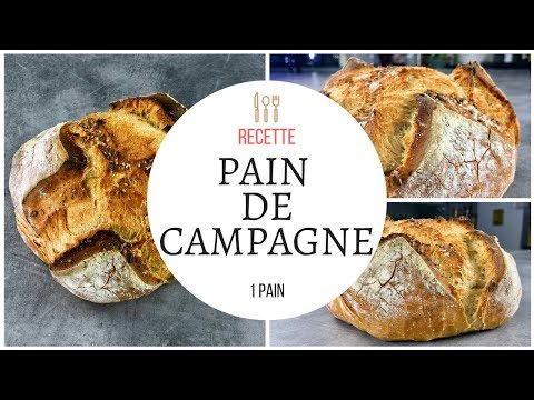 pain de campagne recette au cook expert de magimix. Black Bedroom Furniture Sets. Home Design Ideas