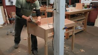 Stand Up Desk Building Process Handmade By Doucette And Wolfe Furniture Makers
