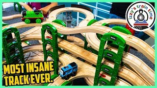THE MOST INSANE TRACK EVER?!?! Fun Toy Trains for Kids with Thomas and Friends