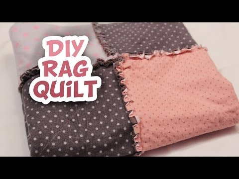 Flannel Rag Style Baby Quilt | How to EASY DIY - Whitney Sews