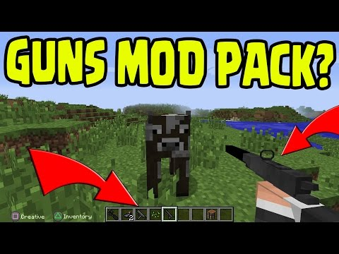 Minecraft PS3, Xbox360, PS4, Wii U - GUN MOD, PISTOLS, ASSULT RIFLE Gameplay - UNLIKELY MOD PACK