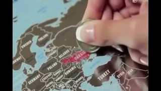 udivivseh.com | Скретч карта мира Travel Map Siver(Уникальная скретч карта, на которой удобно отмечать посещенные страны, вытирая монеткой серебристый слой...., 2014-07-05T08:04:37.000Z)