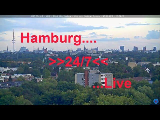 Axis P5414-E - LIVE - 24/7 - Blick über Hamburg / View over Hamburg, Germany