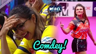 All Players Laugh after watching Rakhi Sawant Bowling | Goa Killer vs Chennai Swaggers | BCL 2018