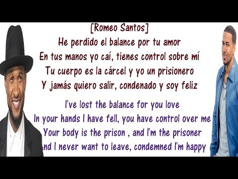 Promise - Romeo Santos ft Usher Lyrics English and Spanish - Translation to English AND to Spanish