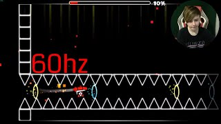 60hz STRAIGHT FLY GOD - Geometry Dash | ChrisCredible Attempts CC Challenges #14