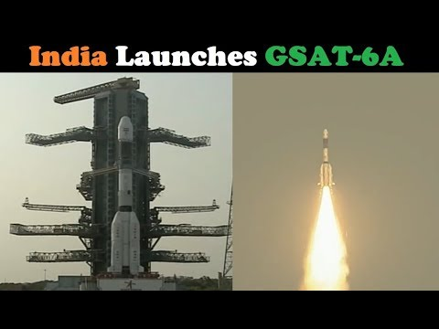 India's GSLV Mk II Rocket Launches GSAT-6A Satellite
