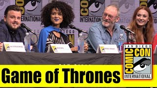 GAME OF THRONES | Comic Con 2017 Full Panel (Sophie Turner, Isaac Hempstead Wright)