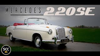 Mercedes-BENZ W128 220se Ponton 1960   4K   Test drive in top gear - Mercedes engine sound