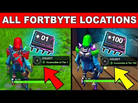*NEW* ALL FORTBYTE LOCATIONS FORTNITE SEASON 9! - COMPLETE ALL Fortbyte Challenges