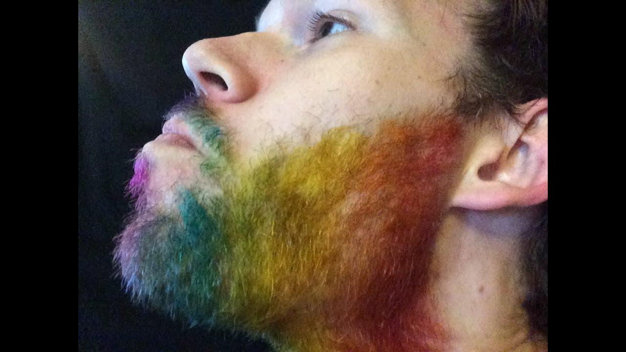 How to Dye your Beard Rainbow! - YouTube