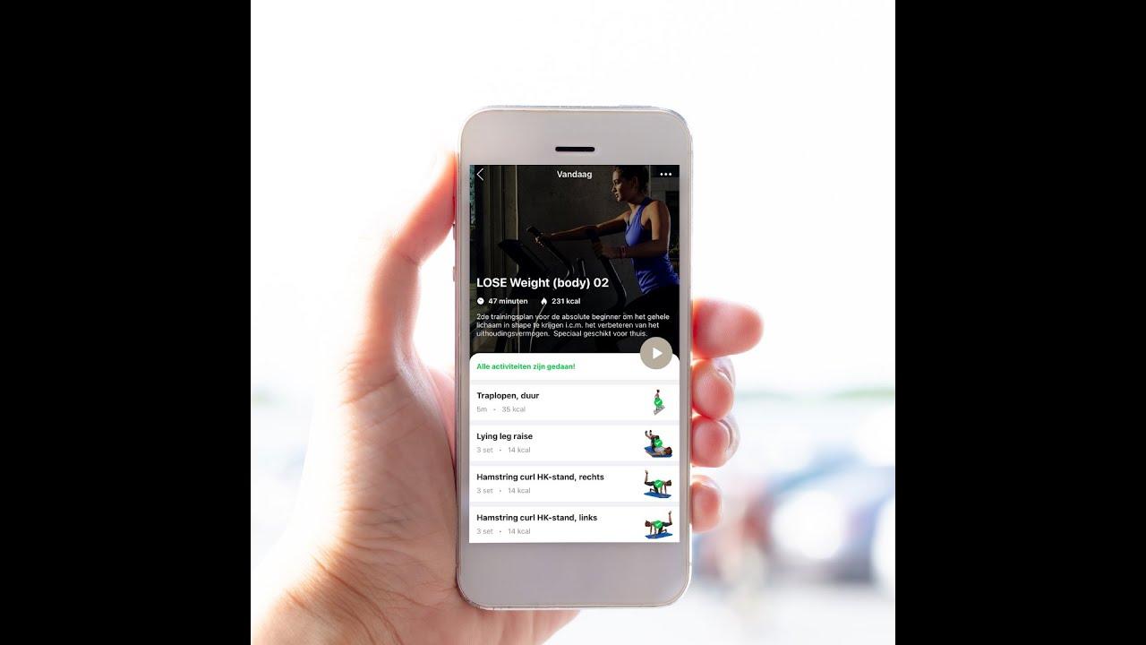Zoek workouts via de app!