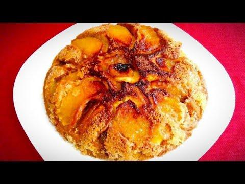 Tarta de manzanas en  5 minutos en sartén (facil y super economico)