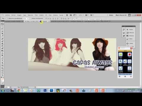 Criando uma capa para Facebook no Photoshop cs5.