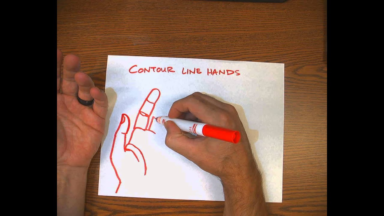 Contour Line Hand Drawings - YouTube