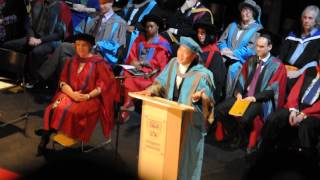 Eason Chan at Kingston Univeristy Graduation Ceremony - singing 天下無雙