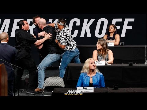 Michael Chiesa, Kevin Lee Brawl at UFC Summer Kickoff Press Conference - MMA Fighting