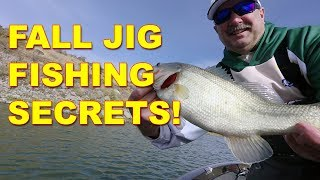 Fall Jig Fishing Tips for Bass Fishing These Work Bass Fishing