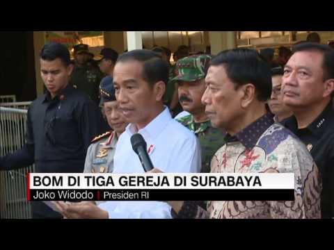 Jokowi: Semuanya Tetap Tenang, Menjaga Persatuan, & Waspada - Bom Surabaya