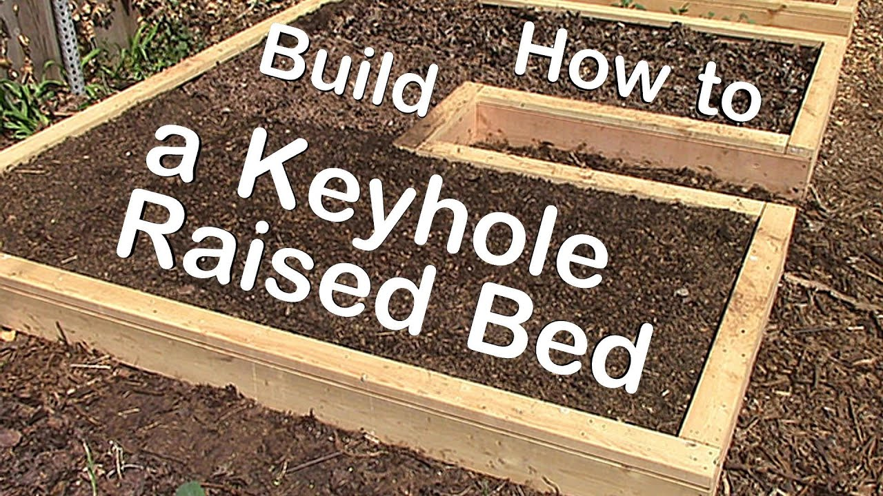 How to Build a Keyhole Raised Garden Bed YouTube