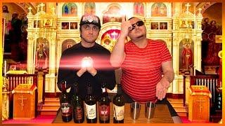 """Праздничная дегустация вина """"Кагор"""" в честь Пасхи."""