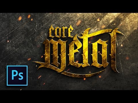 How to create a gold text effect - Metal gold Design - Tutorial photoshop indonesia