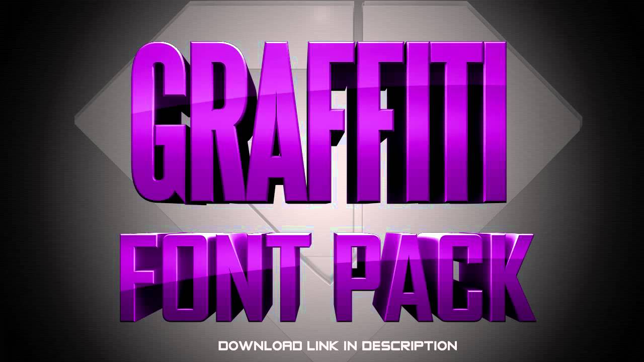 Download Free Graffiti Font Pack With Download - YouTube