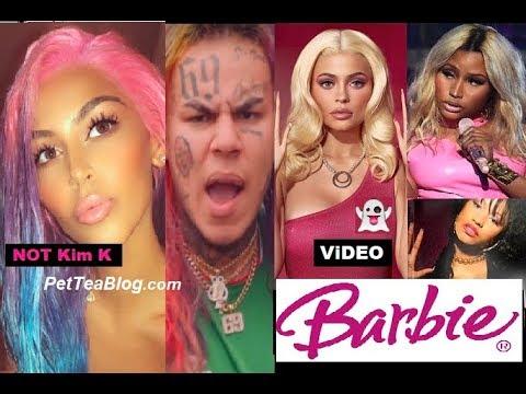 Kim Kardashian Twin as 6ix9ine? Kylie Jenner as Nicki Minaj or BARBiE? 🦄 (Video)