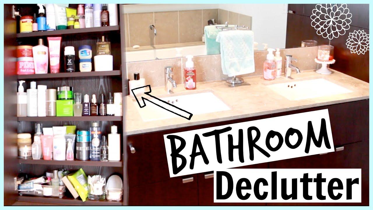 Bathroom DECLUTTER Mini Tour YouTube