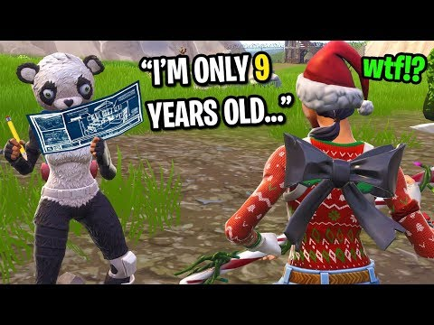 I played Fortnite at 3AM and met the cutest 9 year old kid... (HE CARRIED ME!)