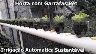 Sistema de Irrigação Automático feito com Garrafas Pet e Tubo de PVC em Horta Vertical Sustentável
