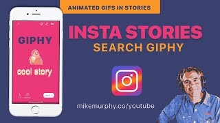 How to Add Animated Gifs from GIPHY to Instagram Stories