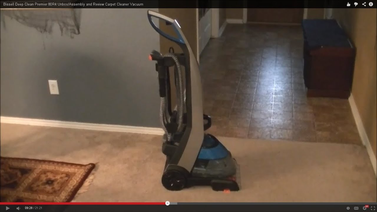 bissell deep clean premier 80r4 and review carpet cleaner vacuum youtube - Bissell Pet Carpet Cleaner
