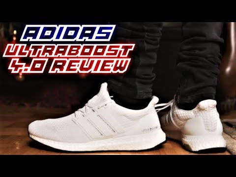 8e17d3914ab19 Adidas Ultraboost 4.0 TRIPLE WHITE REVIEW and ON-FEET - YouTube