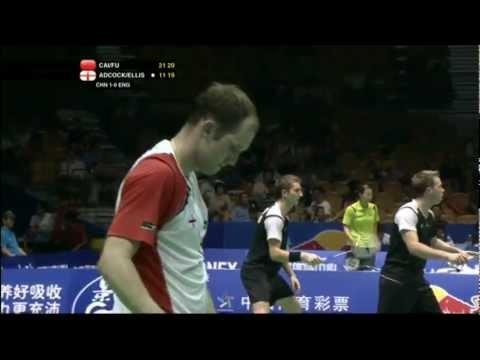 Group (Day 1) - China (Cai/Fu) vs England (Adcock/Ellis) - Thomas Cup 2012