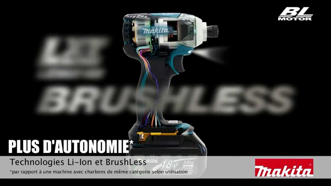 comment fonctionne un moteur sans charbon brushless makita youtube. Black Bedroom Furniture Sets. Home Design Ideas