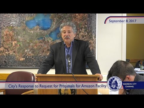 City's Response to Request for Proposals for an Amazon Facility