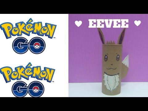 Pokemon Go -  How to Make a Toilet Roll Eevee - Toilet Paper Roll Crafts